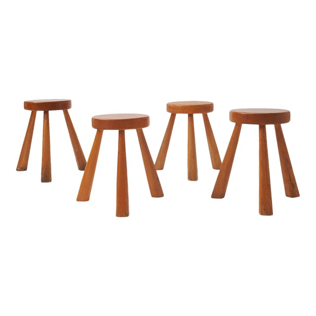 Charlotte Perriand Stools for Les Arcs For Sale