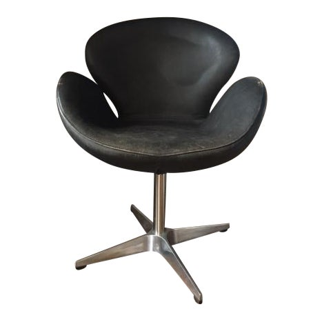 Mid Century Style Leather Chair - Image 1 of 5