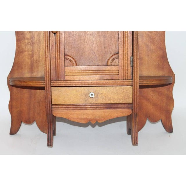 Adirondack 19th Century Pine Hanging Medicine Cabinet With One Drawer For Sale - Image 3 of 10
