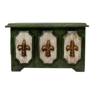Fleur de Lis Wood Box For Sale