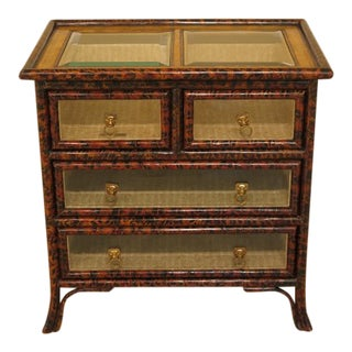 Maitland Smith Glass Drawer Front & Top Display Table