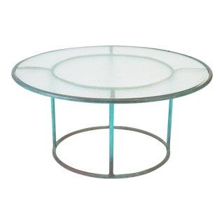"Walter Lamb 36.5"" Round Coffee Table for Brown Jordan"