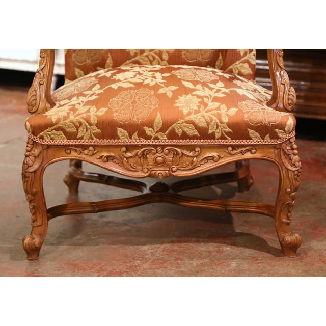 19th Century Louis XV Carved Walnut Armchairs From Provence - a Pair For Sale - Image 9 of 13