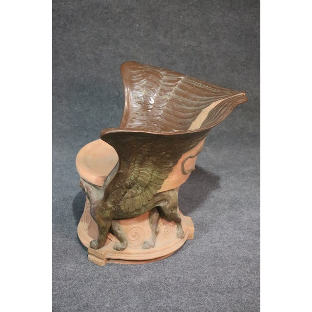 Brown Italian Winged Griffin Club Chair For Sale - Image 8 of 9