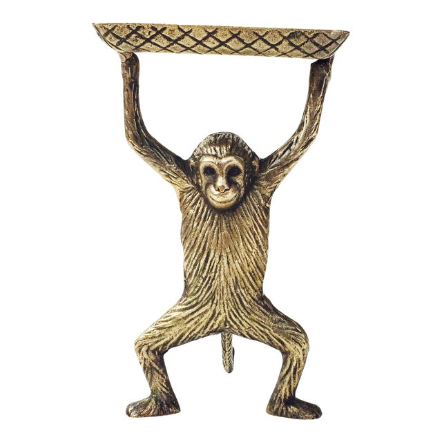 Vintage Brass Monkey Business Card Dish - Image 1 of 5