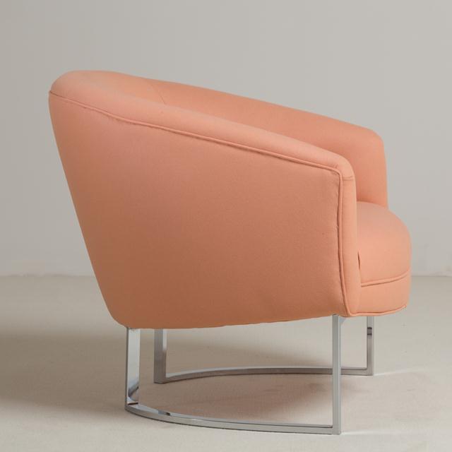 Mid-Century Modern Milo Baughman Chromium Steel Framed Armchair, 1970s For Sale - Image 3 of 7