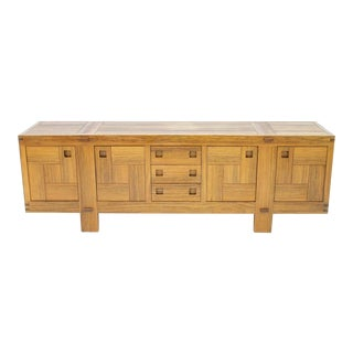 Fantastic Sideboard in African Amazaque Wood, France Circa 1960s For Sale