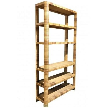 Boho Chic 1980s Boho Chic Bielecky Brothers Woven Bookshelf For Sale - Image 3 of 11