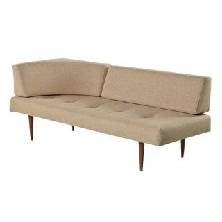 Restored Mid-Century Modern Corner Daybed Sofa in Beige
