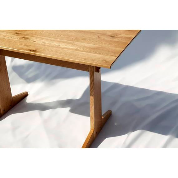Japanese Style Trestle Table & Bench - A Pair - Image 5 of 11