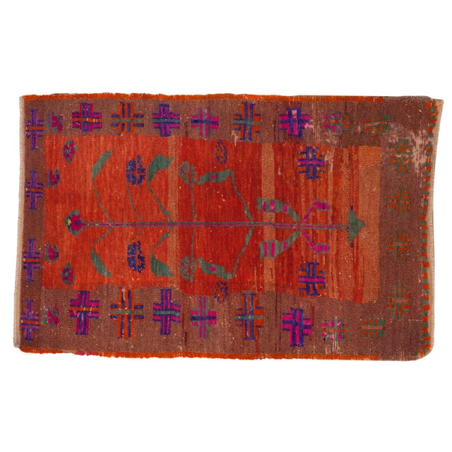 "Vintage Distressed Oushak Rug - 2'4"" X 3'7"" For Sale - Image 10 of 10"