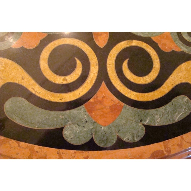 Italian Pietra Dura Marble Table For Sale - Image 5 of 9