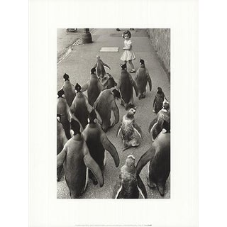 Werner Bischof 'Penguins Day Out' Photography France Offset Lithograph For Sale