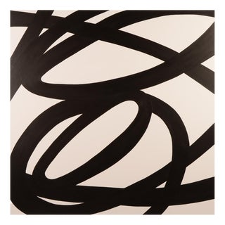Original Black and White Abstract Painting by Stephen Hansrote For Sale