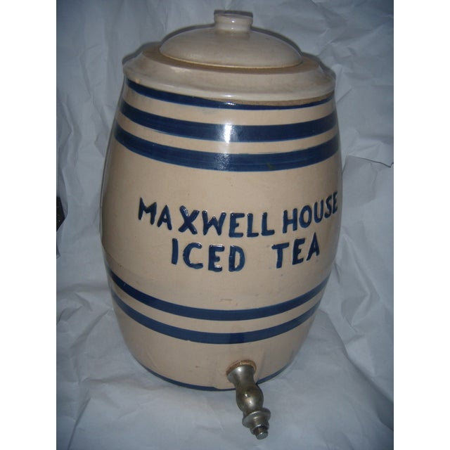 Old Maxwell House Iced Tea Ceramic Dispenser - Image 2 of 10