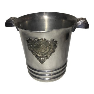 Reims Champagne Monopole Ice Bucket & Art Deco Handles For Sale