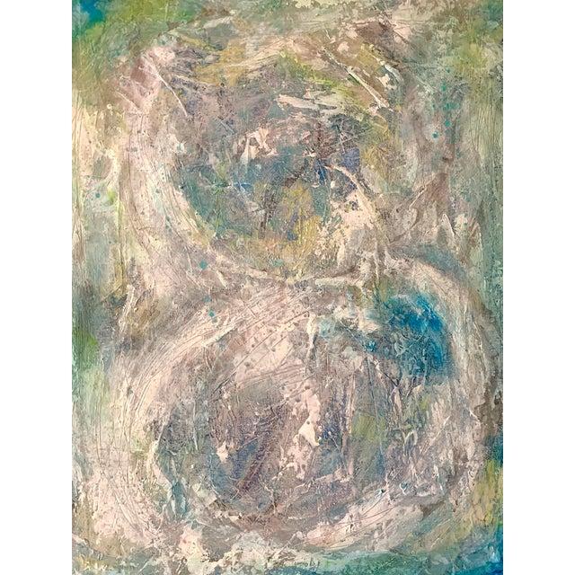 "Original Mixed Media Painting, ""Cosmic Swirls"" For Sale"