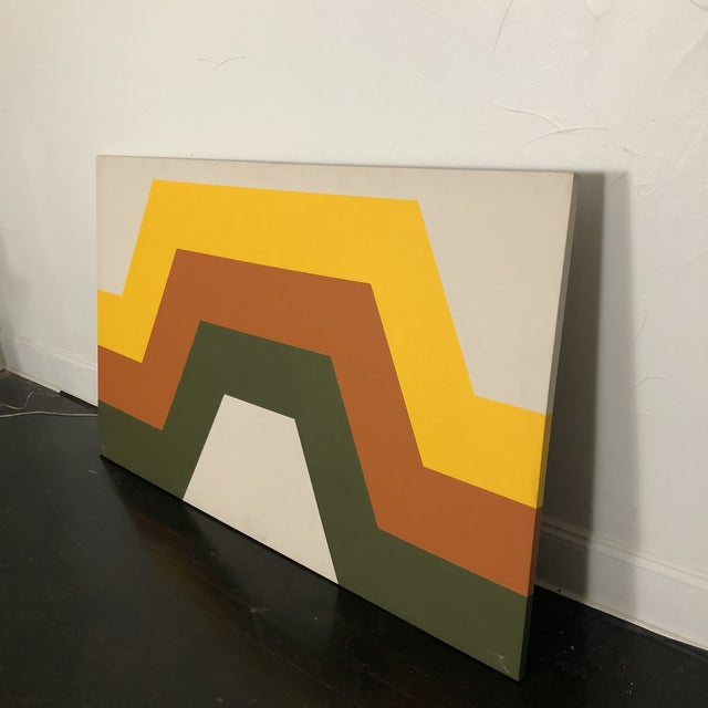 1970s 1970s Tri Stripe Original Paintings by Artifax - A Pair For Sale - Image 5 of 12