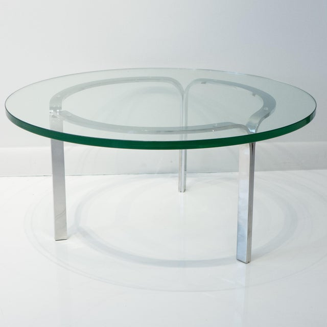 Nicos Zographos Nicos Zographos Ribbon Steel Cocktail Table For Sale - Image 4 of 9
