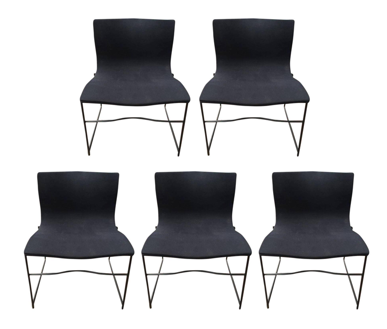 Knoll Vignelli Handkerchief Chairs   Set Of 5