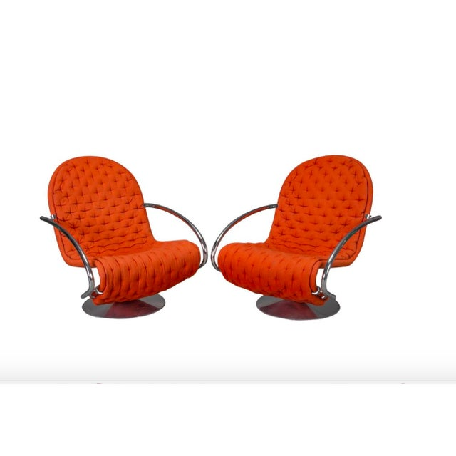 1-2-3 Series Easy Chair Armchairs by Verner Panton for Fritz Hansen- A Pair For Sale - Image 11 of 11