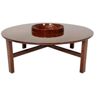Mid Century Modern Edmond Spence Round Coffee Table For Sale