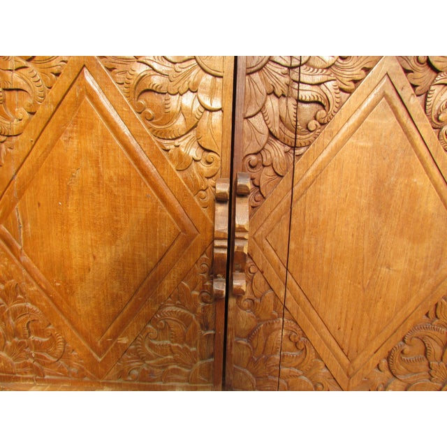 Spanish Carved Armoire - Image 4 of 8
