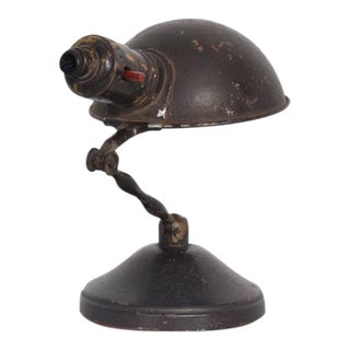 Industrial Desk or Wall Sconce Lamp, Mid-Century Period For Sale