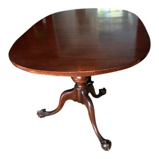 1900s Chippendale Double Pedestal Huge Claw Feet Dining Room Table For Sale