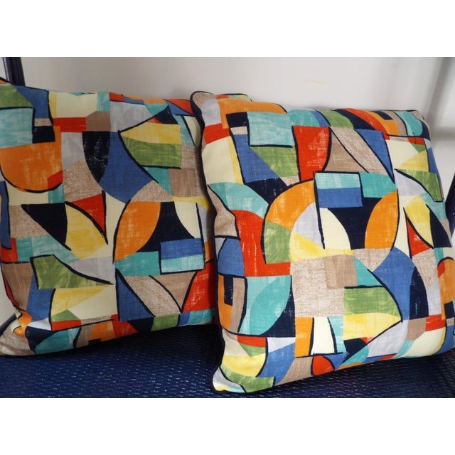Bold pair of abstract designed pillows. This pair of pillows are new, unused and of course perfect. They have a hidden...