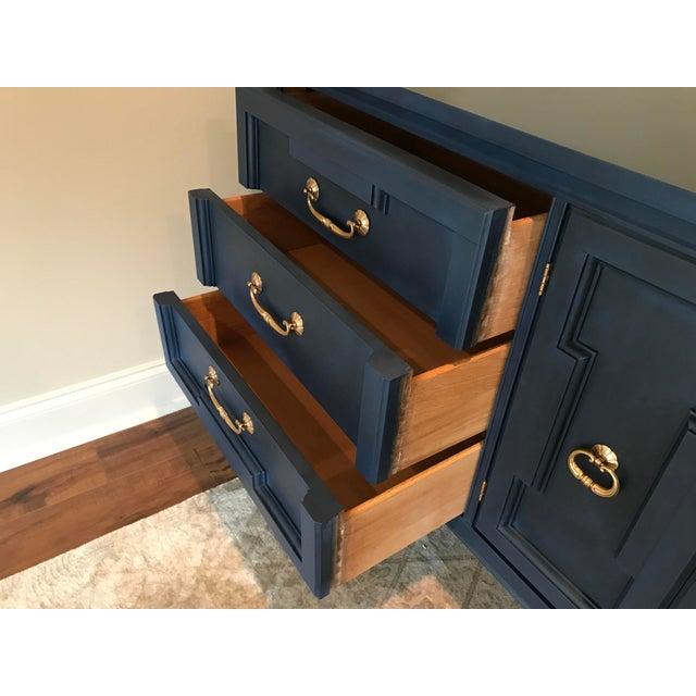 Vanguard Furniture Vintage Blue Painted Credenza For Sale - Image 4 of 5
