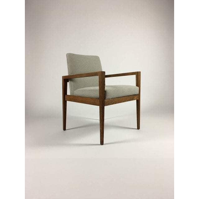 Brown 1950s Mid-Century Modern Jens Risom Accent Chair With Arms For Sale - Image 8 of 8
