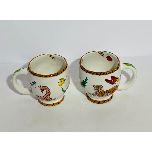 Ceramic Vintage Lynn Chase Jungle Jubilee Dinnerware Service for 11 - Set of 44 For Sale - Image 7 of 9