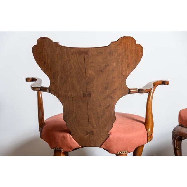 Mid-Century Modern Irish Walnut Library Chair For Sale - Image 3 of 9