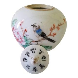 Japanese Antique Porcelain, Herb Medicine, Cachepot Jar, Signed For Sale