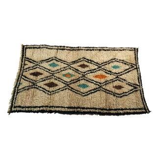 Moroccan Vintage Beni Ouarain Rug - 4′ × 6′11″