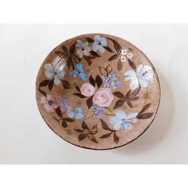 Hand-Painted Swedish Floral Porcelain Bowl For Sale - Image 13 of 13