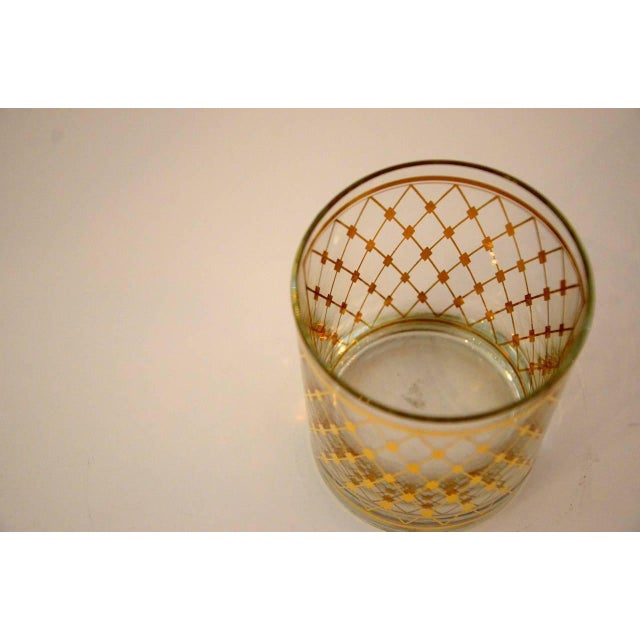 """Set of Four Georges Briard """"Harlequin"""" Pattern Double Old Fashioned Glasses - Image 2 of 4"""
