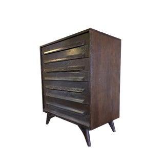 1950s Cerused Oak Chest of Drawers by Jack Van Der Molen for Vanleigh