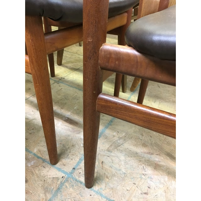 Set of 4 Mid-Century Modern Folke Ohlsson Style Teak Dining Chairs For Sale - Image 11 of 13