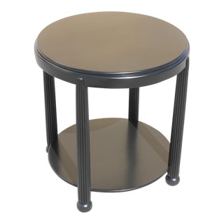 1940s Vintage French Art Deco Ebonized Side Table For Sale