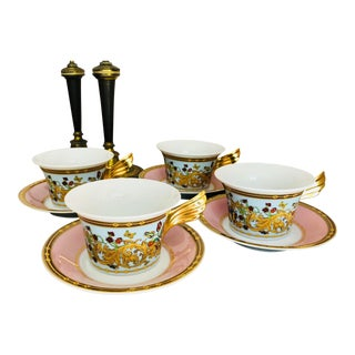 Rosenthal Versace Butterfly Garden Teacups - Set of 4