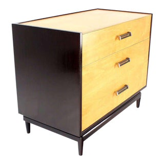 Two-Tone, Mid-Century Modern Bachelor Chest Dresser with Three Drawers For Sale