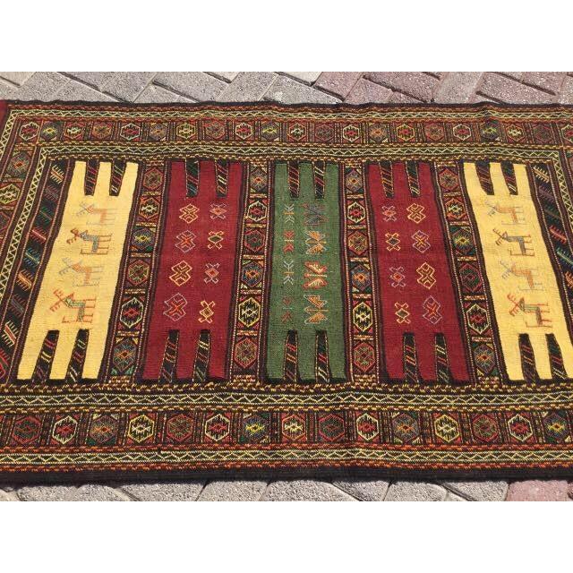 Vintage Turkish Kilim Rug For Sale - Image 4 of 5