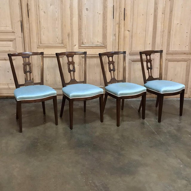Early 20th Century Antique Hepplewhite Dining Chairs - Set of 8 For Sale - Image 5 of 12