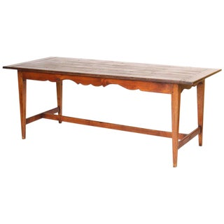 directoire style fruit wood farm table - Antique Dining Table