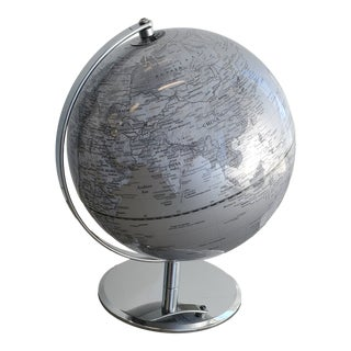 Polished Nickel Grey Globe For Sale