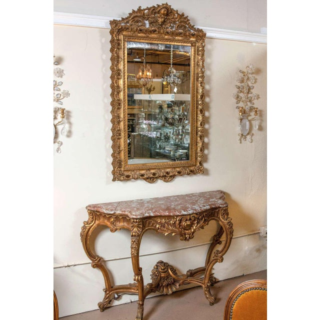 Marble Top Louis XV Style Console Table by Jansen - Image 8 of 8