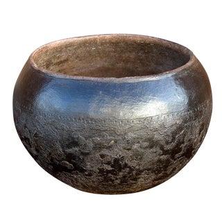 Antique 19th Century Ukhamba Zulu Black Beer Pot For Sale