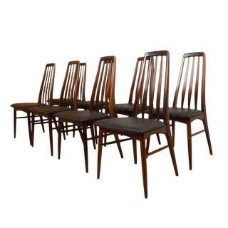 "Koefoeds Hornslet Danish Modern ""Eva"" Rosewood Dining Chairs - Set of 8 For Sale"